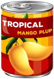 Eine dose mango plup