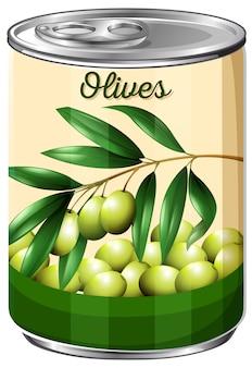 Eine dose olive
