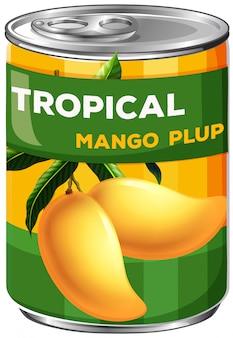 Eine dose tropisches mangopup