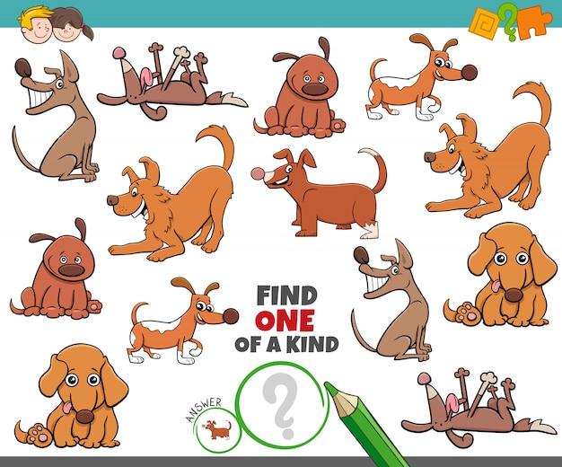 Eine einzigartige aufgabe für kinder mit hunden