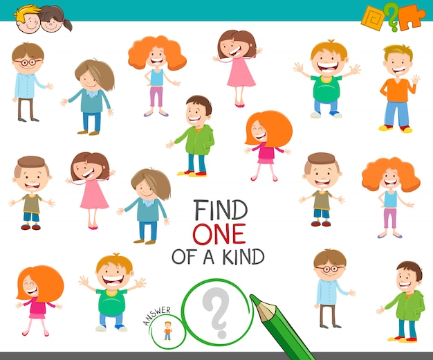 Eine einzigartige bildpädagogische aktivität mit kindern