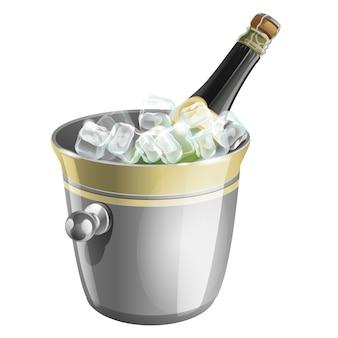 Eine flasche champagner