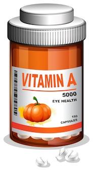 Eine flasche vitamin a