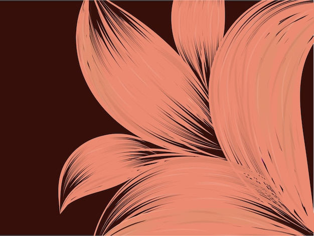 Eine florale abstrakte hintergrundillustration herunterladen