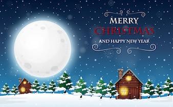 Eine frohe Weihnachten und ein gutes neues Jahr Vorlage
