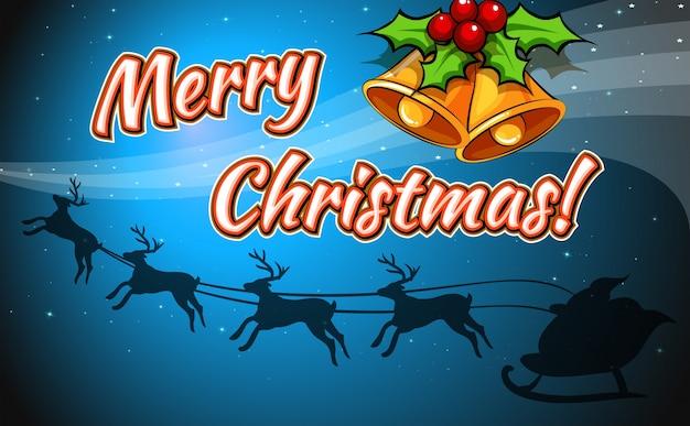 Eine frohe weihnachtskarte
