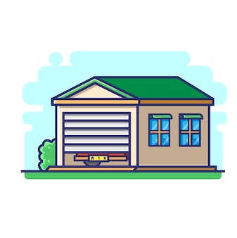 Eine garage