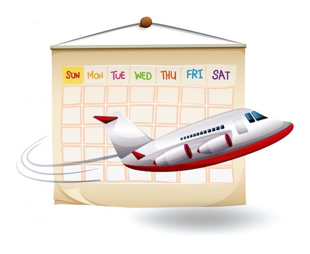 Eine geplante urlaubsreise