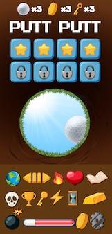 Eine golfspielvorlage