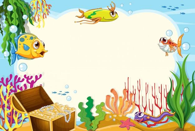Eine grenze von unterwasser