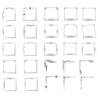 Eine große reihe von frames in verschiedenen formen