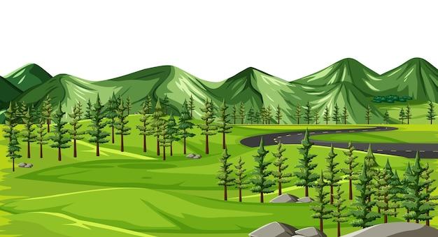 Eine grüne naturlandschaft