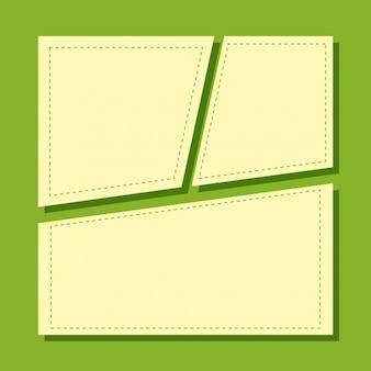 Eine grüne notizvorlage