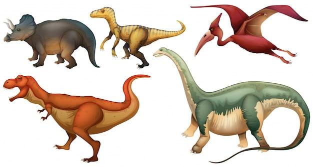 Eine gruppe von dinosauriern