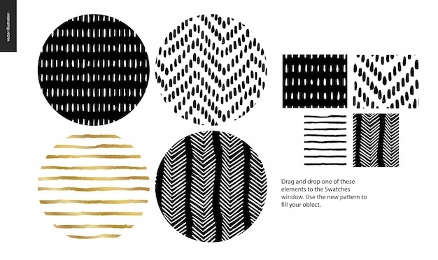Eine gruppe von vier abstrakten nahtlose muster