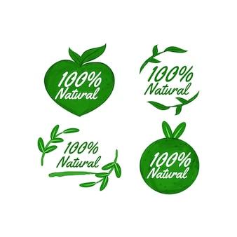 Eine hundertprozentige natürliche etikettensammlung