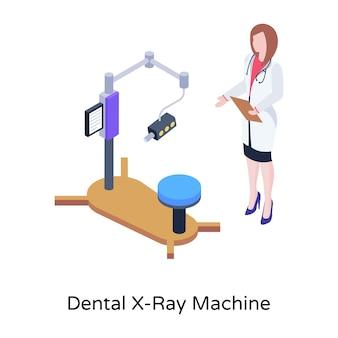 Eine illustration eines chirurgischen stuhls im isometrischen design
