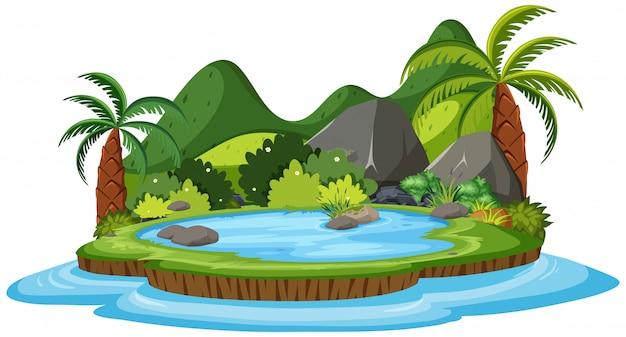 Eine isoaltierte naturinsel