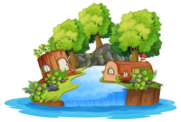 Eine isolierte naturlandschaft