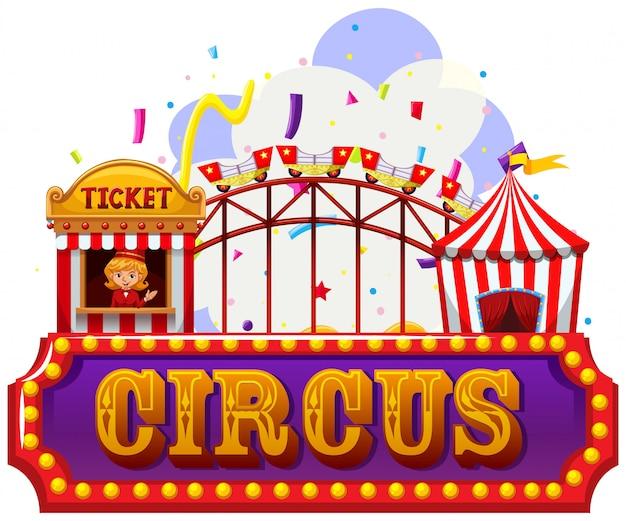 Eine isolierte zirkusfahne