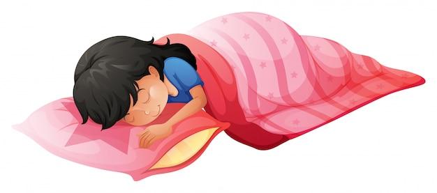 Eine junge frau schläft
