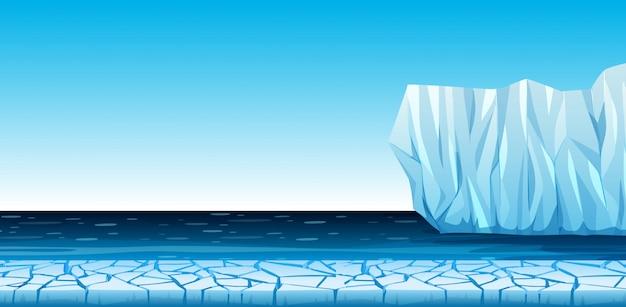 Eine kalte arktische landschaft