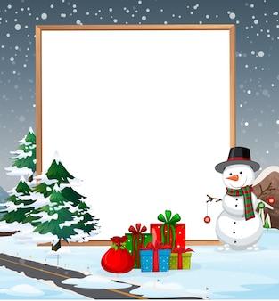 Eine kalte weihnachtsgrenze