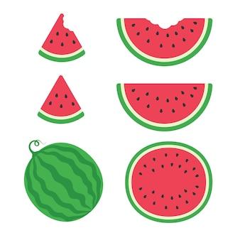 Eine köstliche rote wassermelone süße frucht.