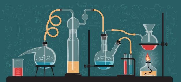 Eine komplexe chemische reaktion