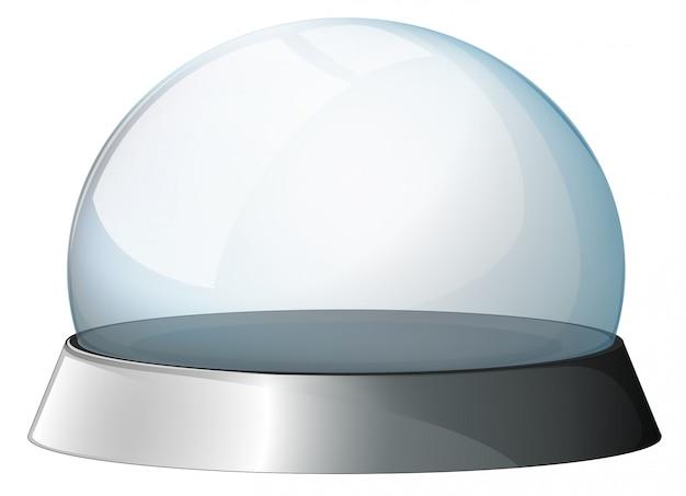 Eine kreisförmige kuppel mit einem silbernen halter