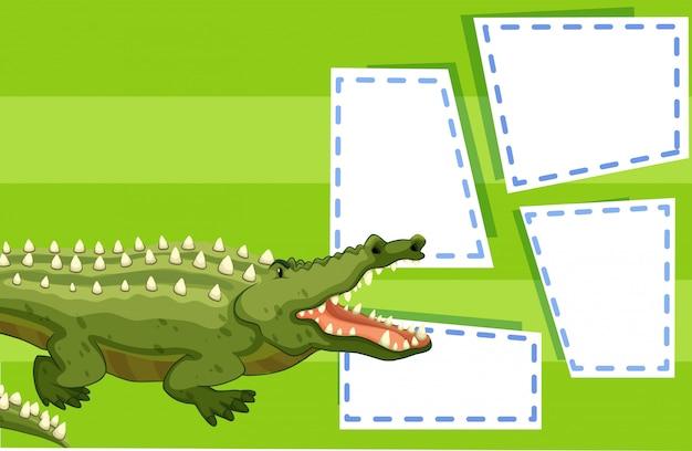 Eine krokodil-vorlage