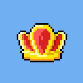 Eine krone im pixel-art-stil