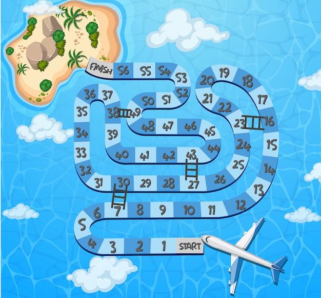 Eine labyrinth-spielvorlage