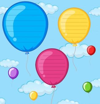 Eine leere ballonnote