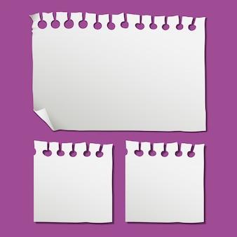 Eine leere notiz auf papier
