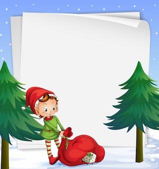 Eine leere vorlage für weihnachten