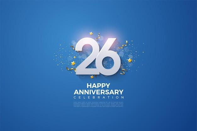 Eine luxuriöse nummer für sich zum 26-jährigen jubiläum