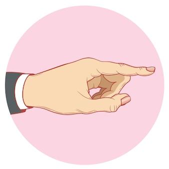 Eine menschliche hand