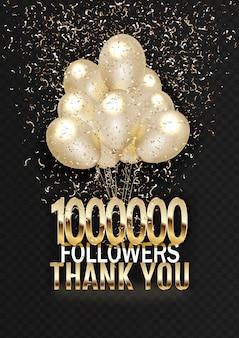 Eine million abonnenten dank des textes auf den bällen mit lametta ..