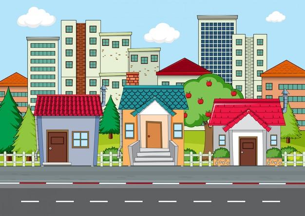 Eine moderne stadtlandschaft