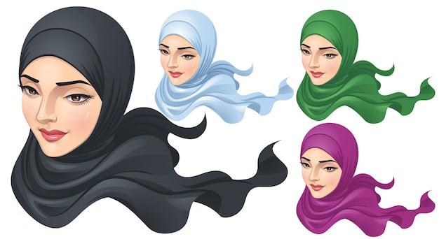 Eine muslimische frau mit hijab