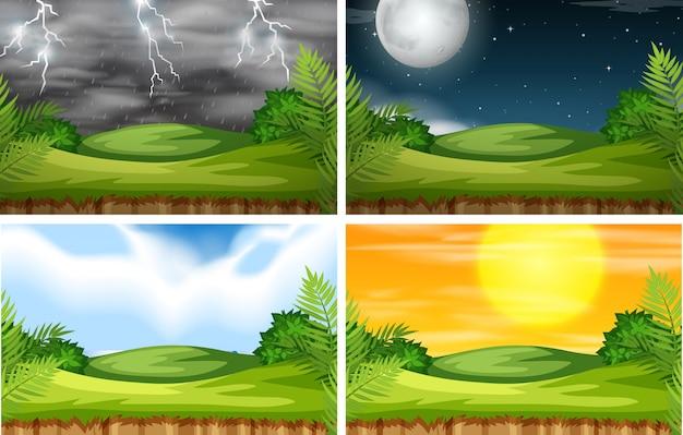 Eine naturlandschaft mit unterschiedlichem klima