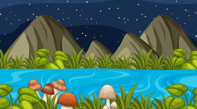 Eine naturnachtlandschaft