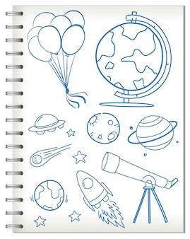 Eine notiz aus dem astronomieunterricht