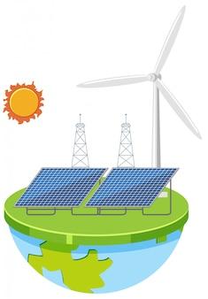 Eine ökostrom-energie