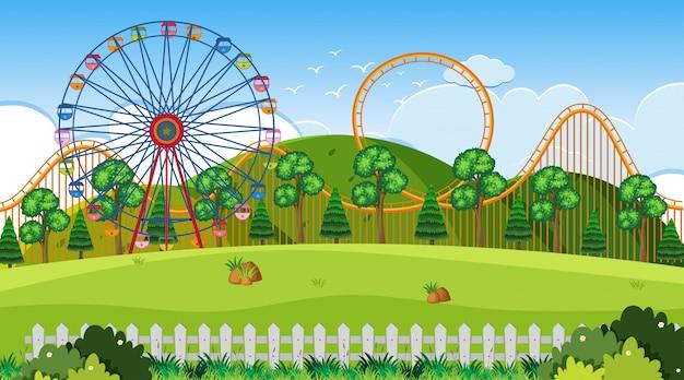 Eine outdoor-szene mit funpark