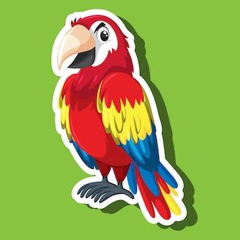 Eine papagei-zeichentrickfigur