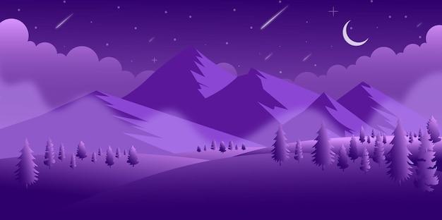 Eine perfekte ansicht des nachthintergrundes im modernen vektor