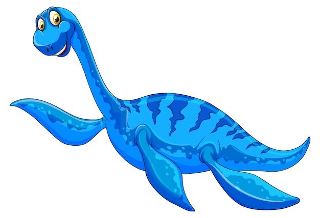 Eine pliosaurus-dinosaurier-cartoon-figur