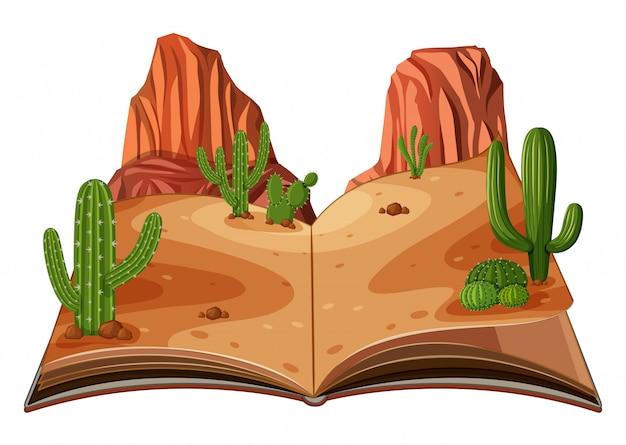 Eine pop-up-buch-wüstenszene